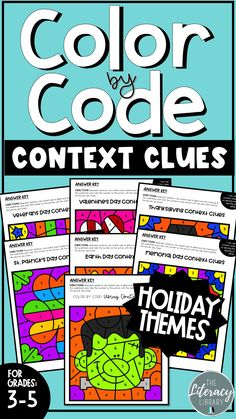 Context Clues Color by Number