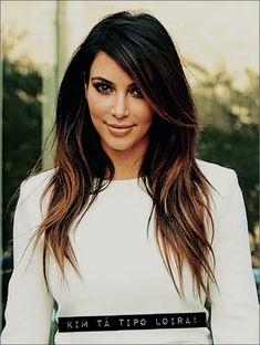 As mechas texanas da Kim Kardashian!