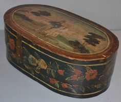 Early Antique Dated 1850  Bentwood Brides Box | eBay  sold   195.00.     ...~♥~