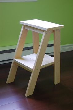 Super Easy but a Little Tricky Ladder Table Plans (these are the actual Plans from Ana White for the little ladder table) - Ana White