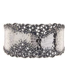 Look at this Sterling Silver Hammered Filigree Cuff on #zulily today!