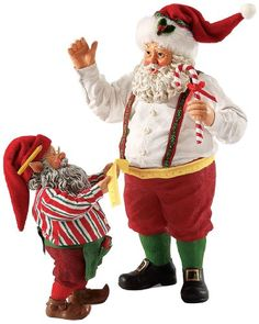 Department 56 Possible Dreams Santas Measuring The Holiday Santa, 10-Inch…