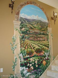 Trompe Loeil - Grand Entrance Archway with Tuscan Landscape