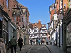 """Lincoln, Steep Hill 2."" by mark corby at PicturesofEngland.com"