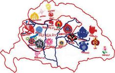 Hungarian folklore in Europe (Cultural Hungarian map) I chose this picture to show the folklore in Hungary. Chain Stitch Embroidery, Embroidery Art, Embroidery Stitches, Embroidery Patterns, Beginner Embroidery, Modern Embroidery, Embroidery Techniques, Hungarian Tattoo, Hungarian Embroidery