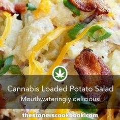 Cannabis Loaded Potato Salad from the The Stoner's Cookbook Marijuana Info How to To Make Marijuana Edibles Weed Recipes, Marijuana Recipes, Cannabis Edibles, Cannabis Oil, Stoner Food, Loaded Potato Salad, Cannabis Cookbook, Hemp Recipe, Incredible Edibles