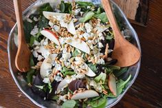 Sweet and Savory Apple, Blue Cheese and Fig Salad