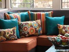 Bright and Bold Indoor/Outdoor Pillows and Cushions at http://www.bellacor.com/