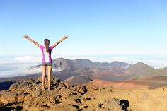 Woman hiker on the Maui Haleakala.