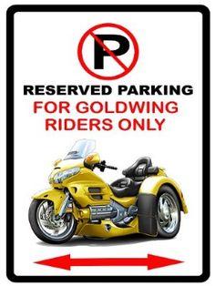 Honda Goldwing Trike Motorcycle Cartoon No Parking Sign:Amazon:Everything Else