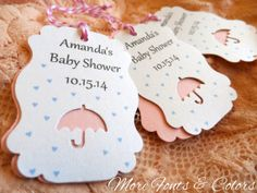 Too Cute! CUSTOM Shimmer Baby Shower favor Tags  Shimmering by JDPaperie, $8.30