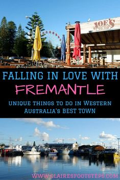 Fremantle is a quirky town in south Western Australia. Here's some of the best Fremantle attractions that you'll love discovering. Australia Country, Australia Beach, Perth Western Australia, Coast Australia, Australia Travel, Australia Visa, Stuff To Do, Things To Do, New Zealand Travel