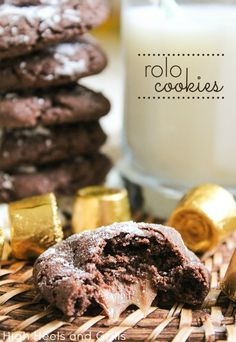 These Rolo stuffed cookies are divine! #recipe #dessert #sweet http://www.highheelsandgrills.com/2013/08/rolo-cookies.html