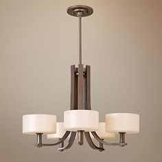 "Dining Room Light: Feiss Sunset Drive Collection 26 3/4"" Wide Chandelier"