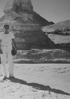 A young Jack Kennedy in Egypt