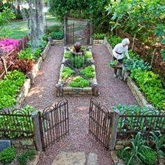 Love this small veggie garden design Vegetable Garden Planning, Backyard Vegetable Gardens, Potager Garden, Veg Garden, Vegetable Garden Design, Garden Types, Garden Landscaping, Landscaping Ideas, Backyard Ideas