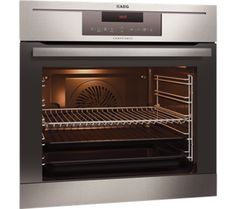 B-Ware: Einbaubackofen AEG Competence edelstahl 229198 Single Electric Oven, Electric Wall Oven, Single Oven, Freestanding Taps, Laundry Appliances, Cooking Appliances, Stainless Steel Oven, Ovens, Kitchens