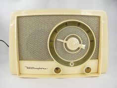 Vintage Westinghouse Cream Plastic Table Top Radio Model H 346T5 for Repair Hum | eBay