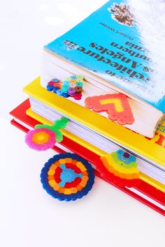 Mini Bookmarks: Make mini bookmarks out of Perler beads and paper clip   BABBLE DABBLE DO