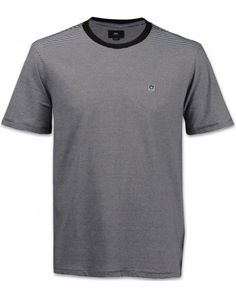 Obey Eighty Nine Striped Tee Herren T-Shirt schwarz