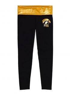 Victoria's Secret PINK University of Iowa Metallic Print Yoga Legging #VictoriasSecret http://www.victoriassecret.com/pink/university-of-iowa/university-of-iowa-metallic-print-yoga-legging-victorias-secret-pink?ProductID=82569=OLS?cm_mmc=pinterest-_-product-_-x-_-x