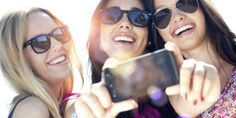 We create that you can flash in your selfies. For selfie-ready smile, book an appointment with our Au Pair, Curves Complete, Selfies, Mirrored Sunglasses, Sunglasses Women, American Independence, Glamour, Make New Friends, Three Friends