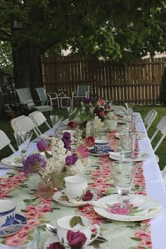 Hold a festive garden tea party to celebrate Mothers Day.