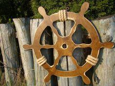 50 cm Wooden Steering Wheel,nautical, HELM, maritime, MARINE WOOD