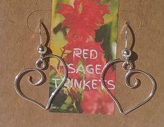 Sterling Silver Hearts Earrings by RedSageTrinkets on Etsy