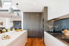 Kitchen, Northbridge by McNally Architects Cupboards, Kitchen Cabinets, Island Bench, Stone Island, Compliments, Architects, Crisp, Kitchen Design, Ceiling