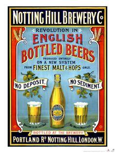 Vintage English Beer poster