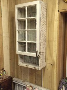 Barnwood and Reclaimed Window Medicine Cabinet by TheMadCraftsmen