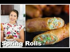 If you love crispy, crunchy, and easy to make spring rolls, then this fried spring roll recipe is right up your alley. Easy Spring Rolls, Fried Spring Rolls, Chicken Spring Rolls, Asian Appetizers, Appetizer Dishes, Appetizer Recipes, Egg Roll Recipes, Vegan Recipes Easy, Cooking Recipes