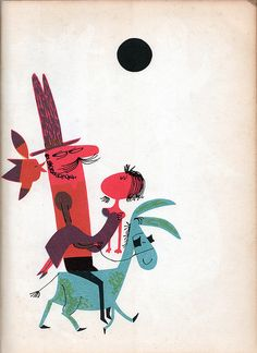 from the Abelard Folk Song Book, edited & arranged by Norman Cazden, iIllustrated by Abner Graboff. 1958. via Wardomatic
