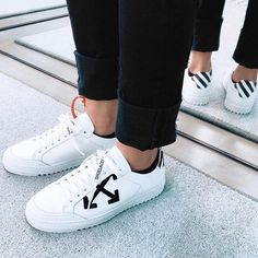 """Off-White™ """"basic"""" sneaker in white leather. made in Italy."""