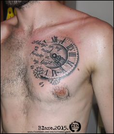 Clock and qute tattoo by bLazeovsKy on DeviantArt