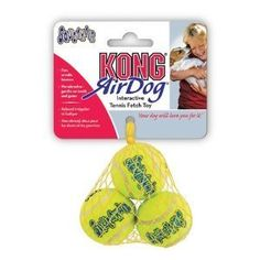 KONG3 Piece Air Squeaker Tennis Balls (2 Pack), Small-6 balls ** You can find more details by visiting the image link. (This is an affiliate link and I receive a commission for the sales) #DogLovers
