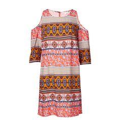 NEW-Lily-Loves-Cold-Shoulder-Dress-Tile-Print Target $35