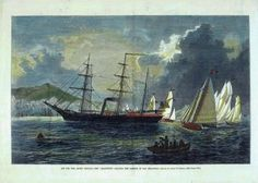 Jeannette Arctic expedition reproduction of hand coloured vintage engraving