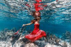 Unterwasser/Spiegel Shooting