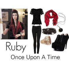 """Ruby from Once Upon A Time"" by haleysdreamcloset on Polyvore"