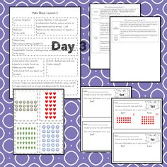 This #teaching unit provides 12 days of instruction Math Lesson Plans, Math Lessons, Math Blocks, Math Talk, Data Tracking, Learning Targets, Math Words, Student Data, Multiplication Facts