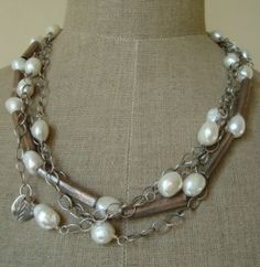 fresh waterpearls, fine and sterling silver by  @Lotte Schulthess (schmuecklinge)