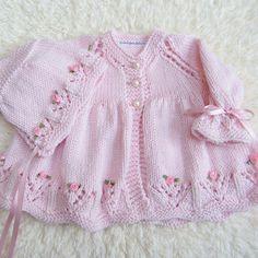 Hand Knit Cotton Baby Set by jayceeoriginals on Etsy, $80.00