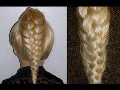 Flechtfrisur Holländischer Zopf.Ausgehfrisur.Dutch Braid/High Bun Hairstyles.Peinados - YouTube