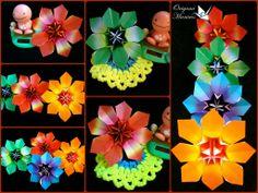 Hermosas Flores Clematis de origami para centro de mesa