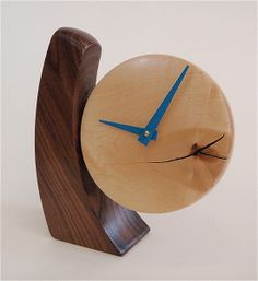Adjustable Desk Clock: Todd Bradlee: Wood Clock | Artful Home