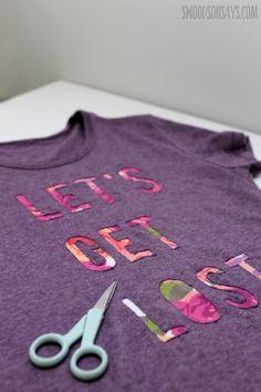 Reverse Applique T-Shirt Refashion - Swoodson Says
