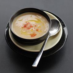 Roasted Garlic & Broad Bean Soup sounds good for one of those cold nights.  Easy pantry soup.