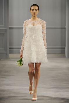 Pretty short dress. Monique Lhuillier, Bridal Spring 2014